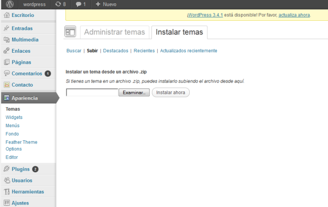 instalar tema en WordPress