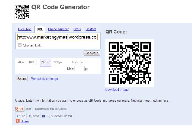generador de código QR, QR code