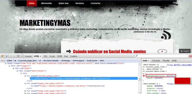 modificar plantilla wordpress theme con css