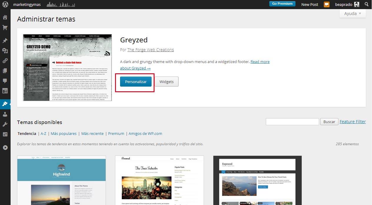 2 formas de modificar una plantilla WordPress sin saber programar ...